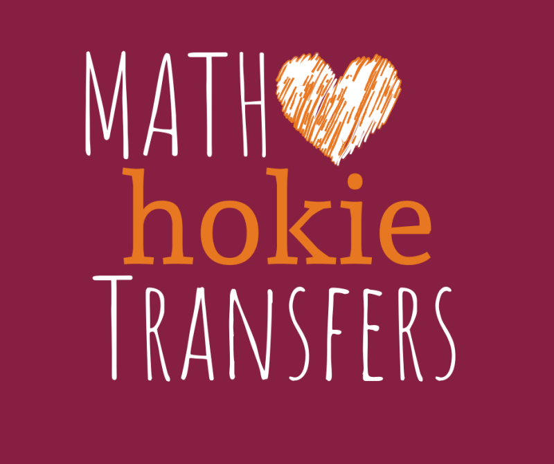 "Picture of Math ""Loves"" Hokie transfers"